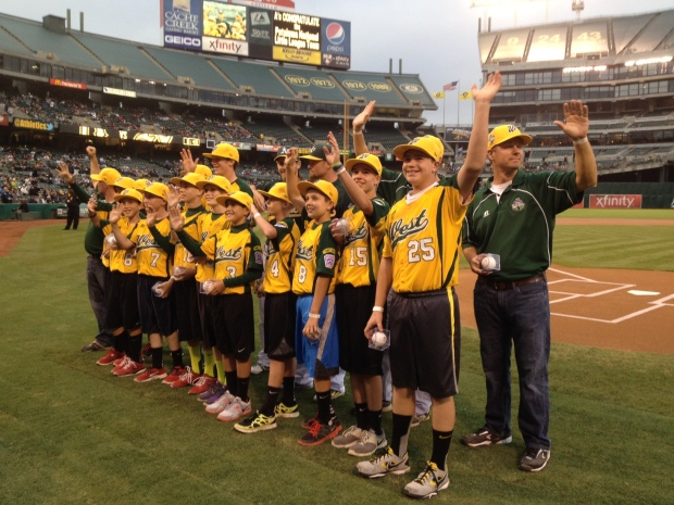 Petaluma Little League At A's Game