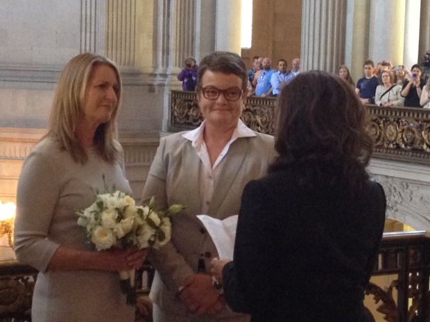 RAW VIDEO: Kris Perry and Sandy Stier Get Married