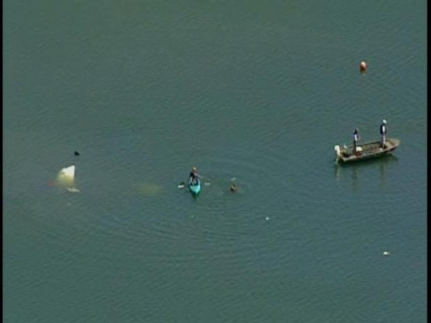 [BAY] Raw Video: Small Plane Plunges Into Peninsula Lagoon