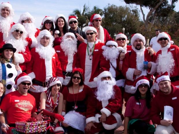 Santas Galore in Balboa Park