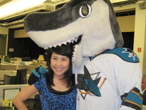 SJ Sharkie Visits the Newsroom