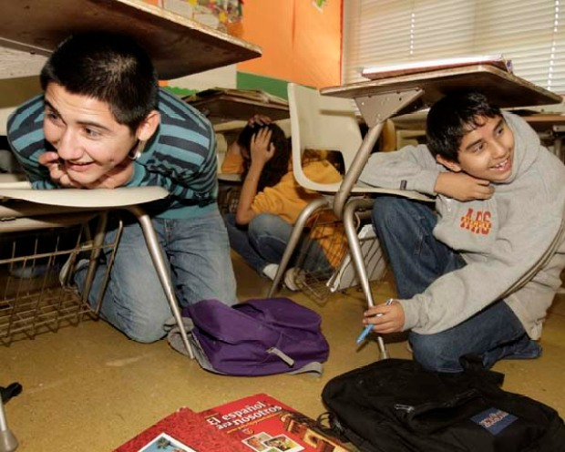 Nov. 13, 2008: SoCal Stages Earthquake