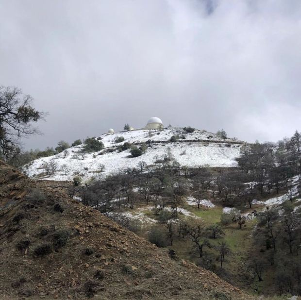 Snow on Mount Hamilton Sets a Record!