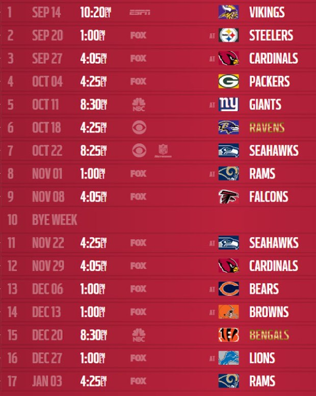 photo relating to 49ers Printable Schedule titled San Francisco 49ers 2015 Program Unveiled - NBC Bay Neighborhood