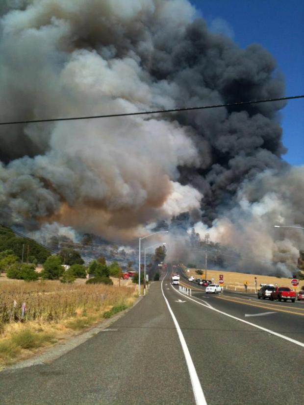 Wye Fire Burning in Lake County