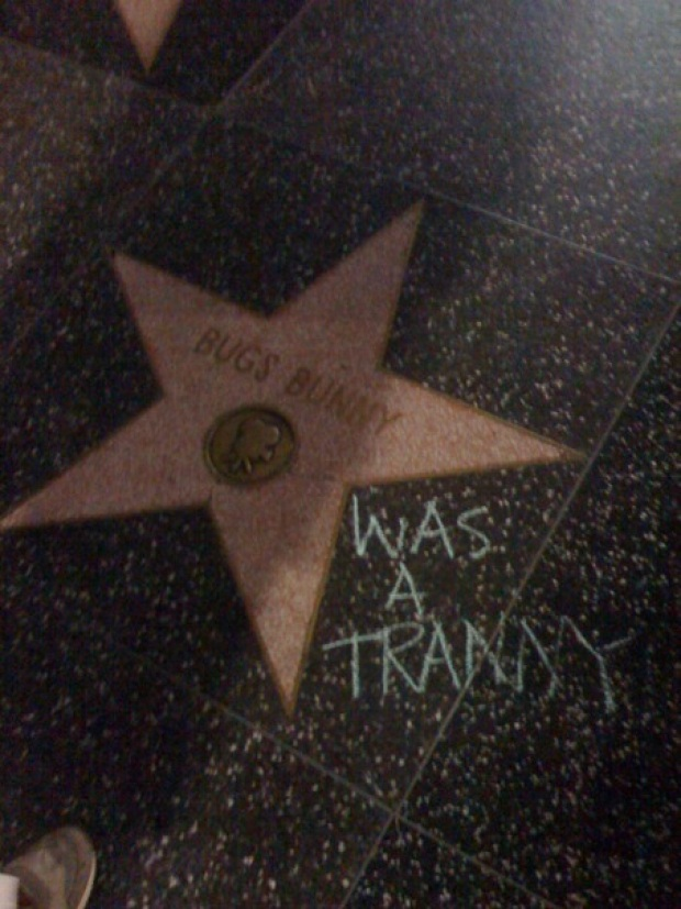 Prop. 8 Protestors Chalk Out Hollywood Stars