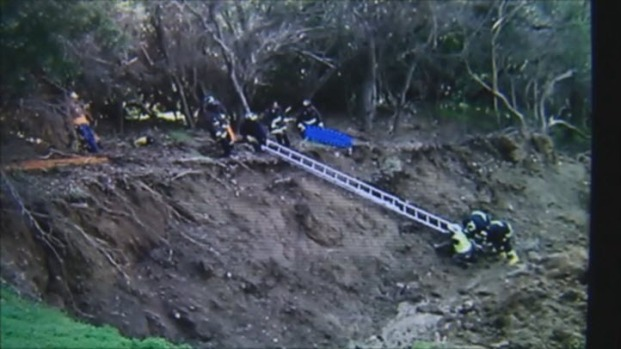 [BAY] Firefighters Rescue Man Stuck Knee-Deep in Mud in Oakland Hills