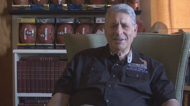 [BAY] RAW VIDEO: 'Super Fan' Larry Jacobson Discusses Attending Every Super Bowl