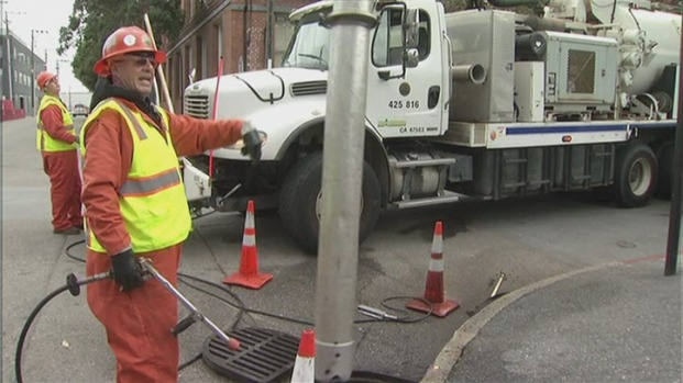 [BAY] SF Crews Clear Drains in Preparation For Storm