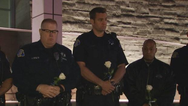 [BAY] Vigils Held for Slain SJ Officer Michael Johnson