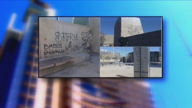 [BAY] San Jose City Hall Vandalized with Graffiti