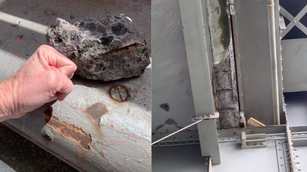 [BAY] More Fallen Concrete on Richmond-San Rafael Bridge