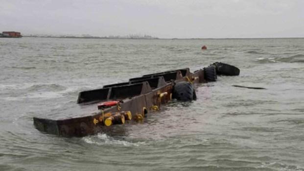 [BAY] Coast Guard Responding to Sunken Barge Near Bay Bridge