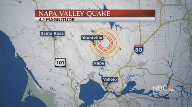 [BAY] Magnitude 4.1 Earthquake Strikes Near Napa