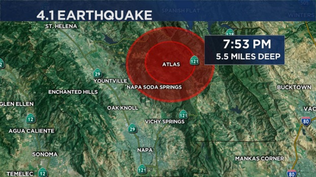 [BAY] 4.1 Quake Near Napa Renews Rattled Nerves