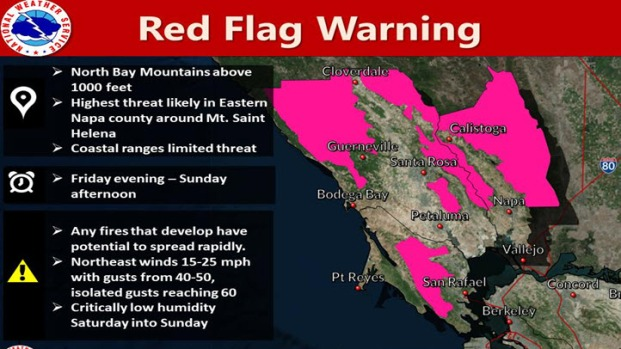 [BAY] Red Flag Warning and Potential PG&E Proactive Power Shutoff