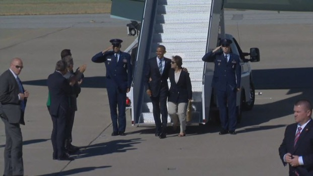 [BAY] President Barack Obama Arrives in Bay Area for Global Entrepreneurship Summit at Stanford University