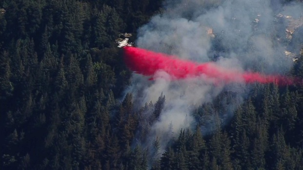 Crews Battle Brush Fire on Highway 17