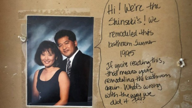 San Jose Couple Remodeling Bathroom Uncovers Hidden Message Left - Bathroom remodel san jose