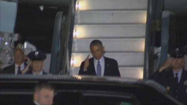 [BAY] President Obama Arrives in Bay Area