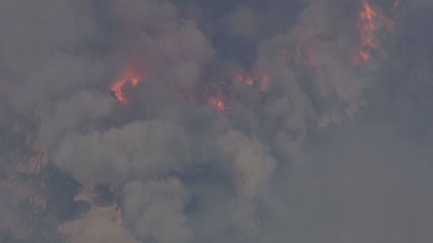 RAW VIDEO: Cal Fire Battles 300-Acre Fire in Yolo County