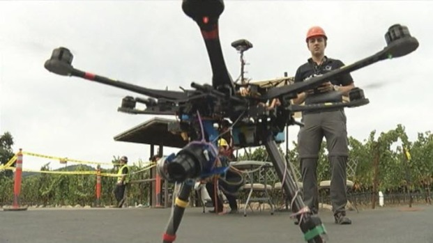 Drones Used to Examine Quake Damage to Napa's Historic Sites