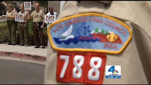 [LA] Protesters Rally to Keep Boy Scouts' Ban on Gay Members