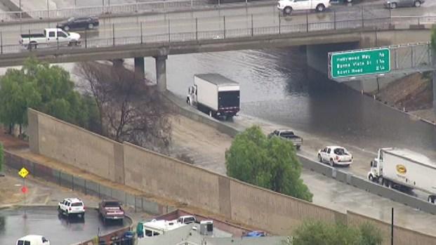 Mudslide Creates Traffic Nightmare on 5 Fwy