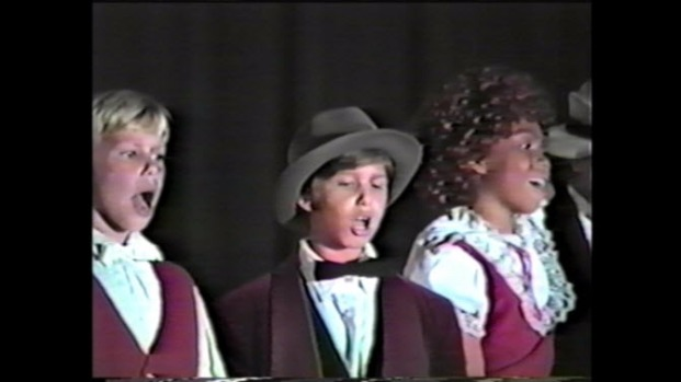 "3rd Grader Andy Samberg Plays Daddy Warbucks in ""Annie"" Production in 1986"
