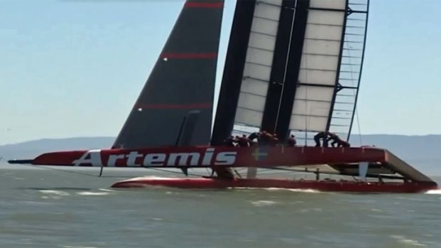 Artemis Racing Team Trains on the Bay