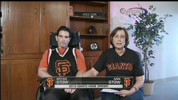 [BAY] Bryan Stow Virtually 'Hands' Ball for 1st Pitch