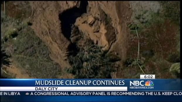 [BAY] Crews Clean Up Daly City Mudslide, Fear Rain