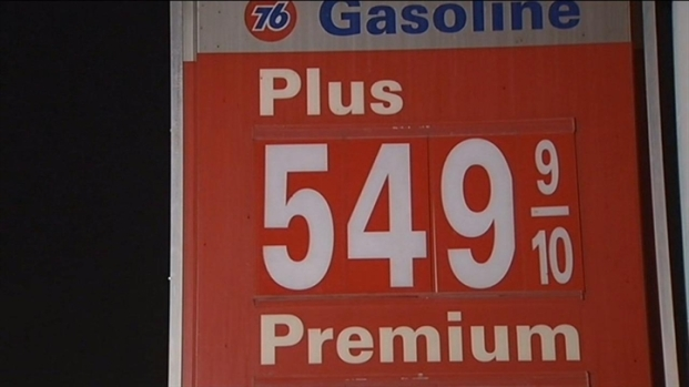 [BAY] Raw Video: Gas Prices Past $5 In Cupertino
