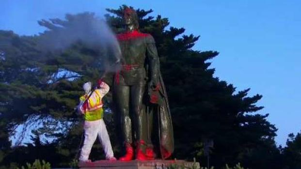[BAY] Columbus Statue in San Francisco Defaced by Vandals