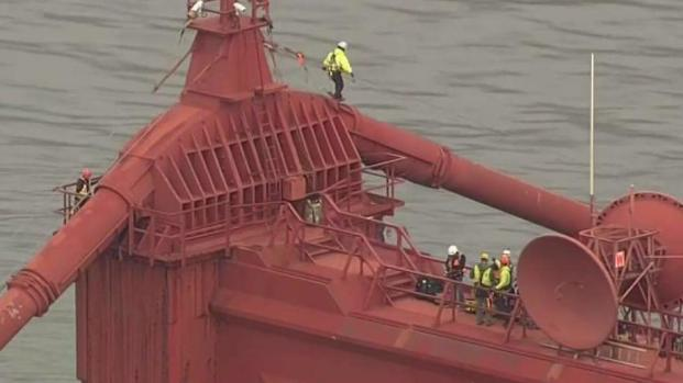 [BAY] Crews Inspect Condition of Golden Gate Bridge's Towers