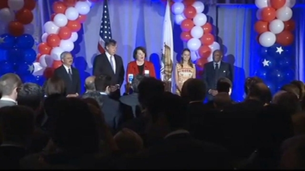 [BAY] Raw Video: Diane Feinstein Thanks Campaign in San Francisco