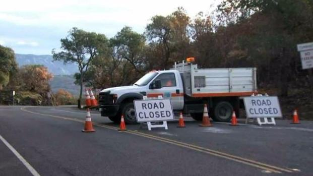 Highway in Rural Napa Co. Remains Closed After Rock Slide