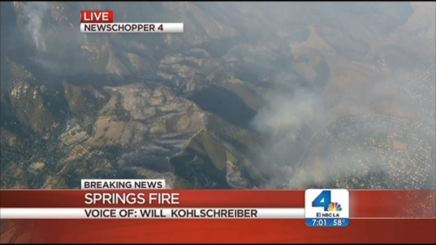 [LA] 28,000-Acre Springs Fire Is 30 Percent Contained