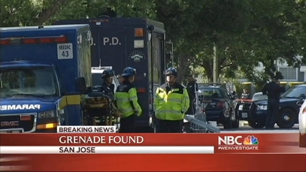 [BAY] SJ Woman Cleaning Garage Finds Grenade