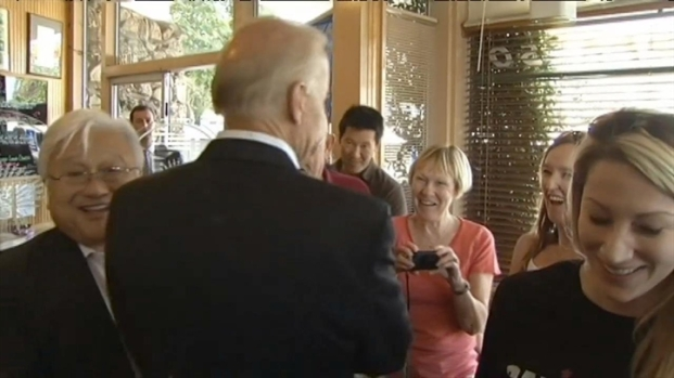 [BAY] RAW VIDEO: Vice Pres. Joe Biden Visits Hobee's