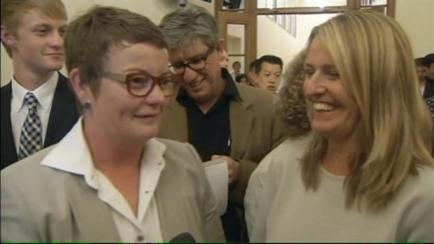 [BAY] RAW VIDEO: Kris Perry and Sandy Stier at City Hall