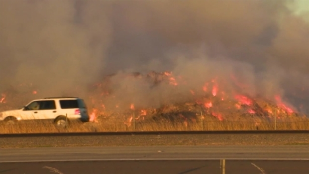 [BAY] RAW VIDEO: Smoke From Hay Fire Makes Way to Bay Area