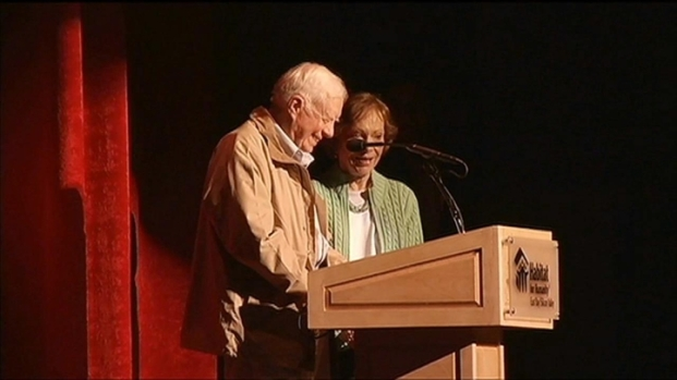 [BAY] RAW VIDEO: Former President Jimmy Carter at Paramount Theater in Oakland