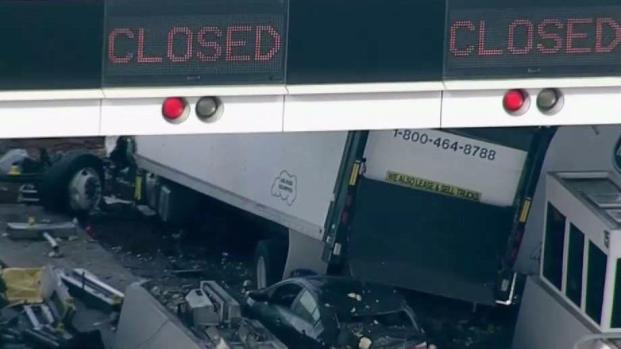 [BAY ML 5A SURATOS] Lane Remains Closed at Bay Bridge Toll Plaza After Fatal Box Truck Crash