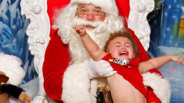 Merry Meltdowns on Santa's Lap