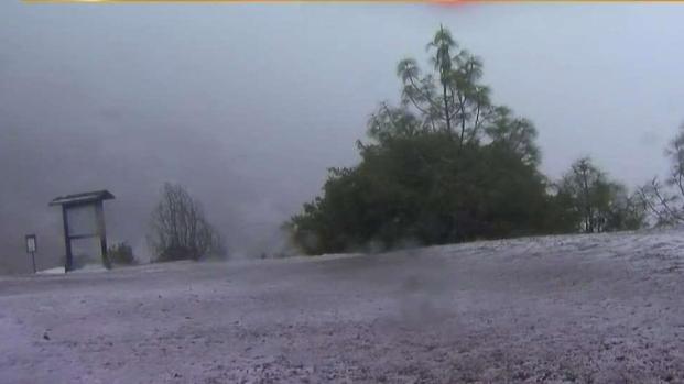 Mount Diablo Gets Good Dusting of Snow
