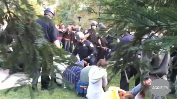 [BAY] Police Pepper Spray Peaceful UC Davis Protesters