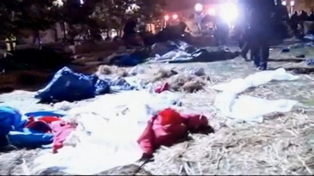[BAY] Raw Video: Tents Come Down in Frank Ogawa Plaza