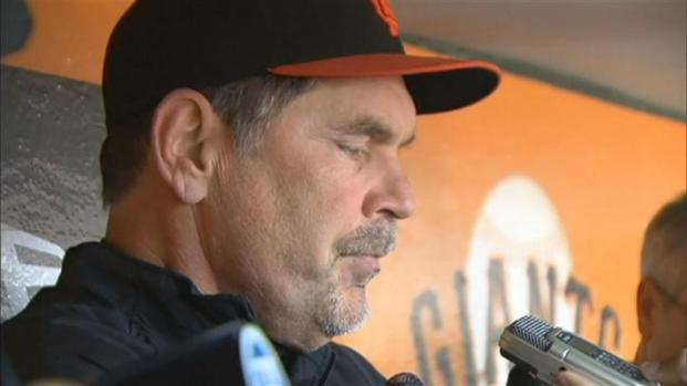[BAY] Raw Video: Giants React to Posey Injury