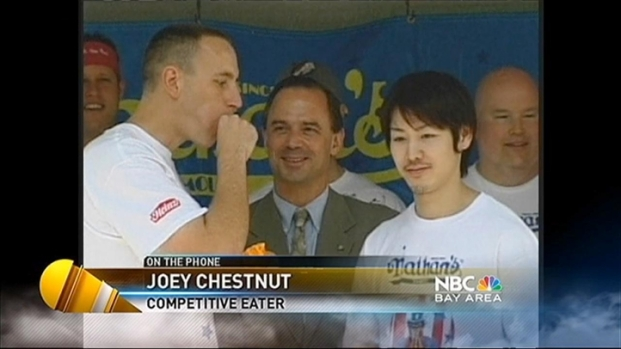 [BAY] Hide Your Hot Dogs! South Bay Eating Champ Defends His Title